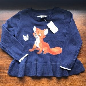 NWT GAP Disney fox 🦊 and the hound peplum sweater
